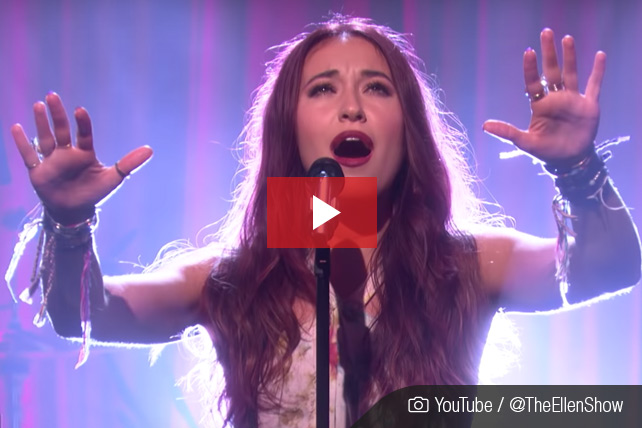 lauren daigle on ellen show