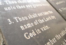 How You Might Break the Third Commandment in Church