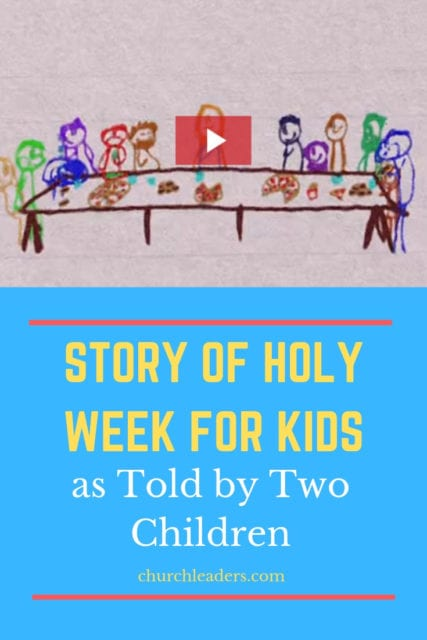 story of holy week for kids