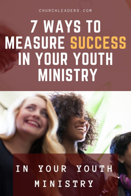measure success in youth ministry