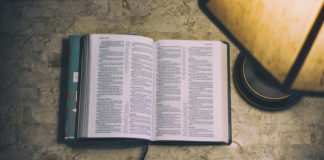 Open Bible for prayer time