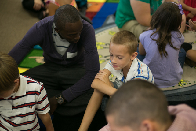 men serving in children's ministry