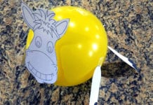 Easter Craft: Crafty Thursday-Triumphant Entry Donkey Balloon