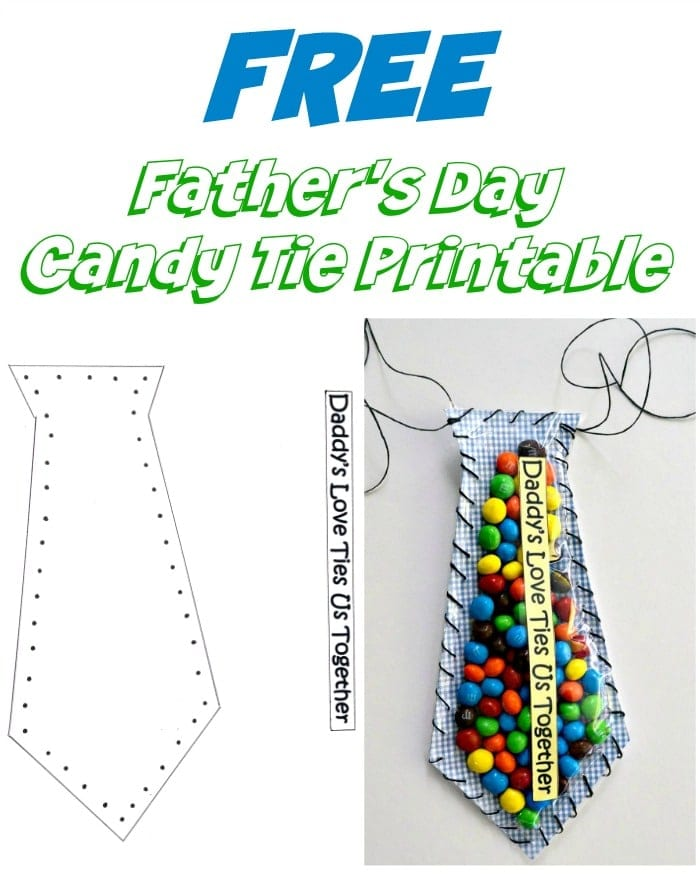 Father's day crafts for kids Candy Tie Printable