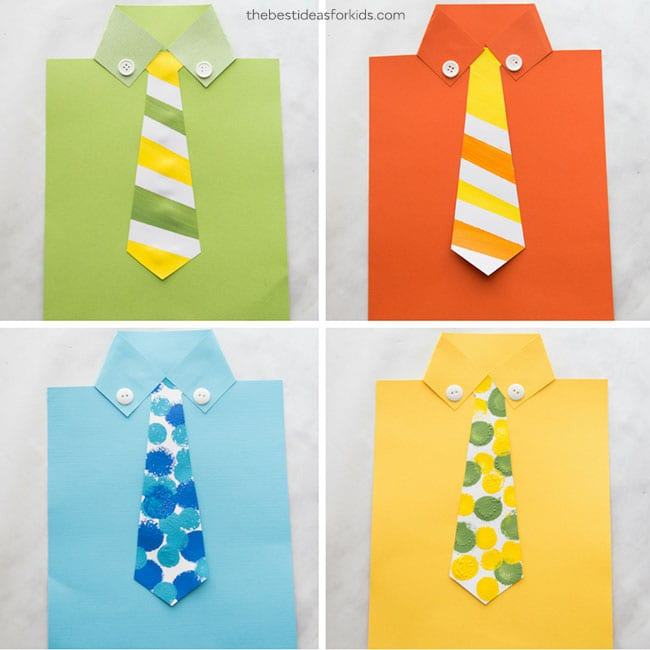father's day crafts for kids tie craft