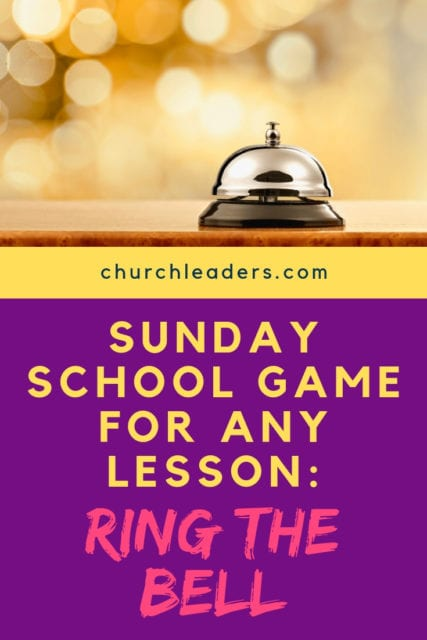 Sunday school game
