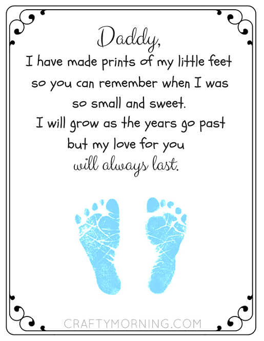photo relating to Printable Poem named daddy-footprint-printable-poem-fathers-working day - - - ChurchLeaders