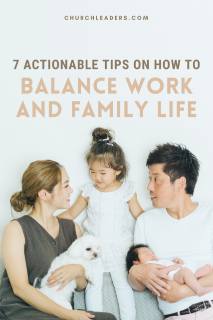 how to balance work and a family