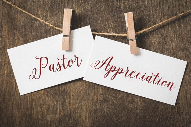 PASTORS SAY THANK YOU
