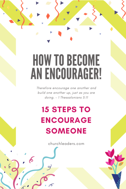 how to become an encourager
