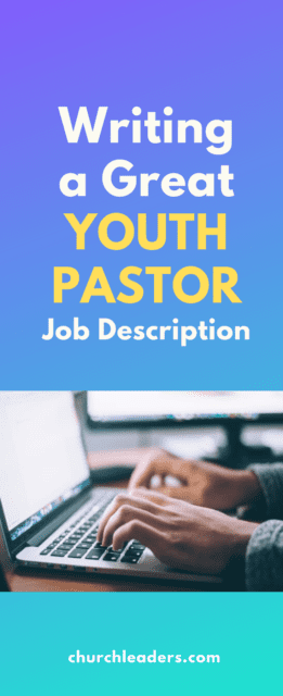 youth pastor job description