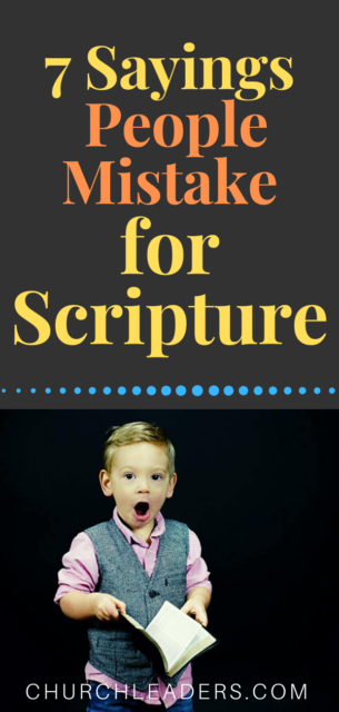 mistake for Scripture