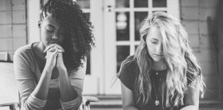praying in a small group