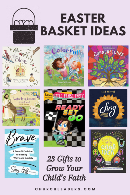 As a veteran children's ministry leader and a mom, I've rounded up some of my favorite resources to give you plenty of faith-filled Easter basket ideas. #easter #easterbasketideas #easterbaskets #eastergifts #giftsforeaster