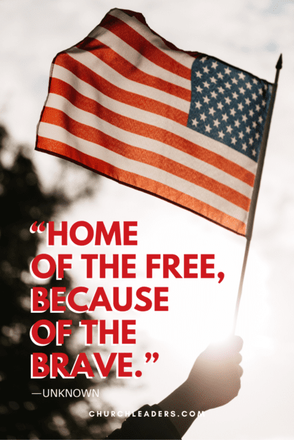 memorial day quotes home of the free because of the brave