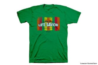 christian t-shirts from youth group life savior instead of lifesaver