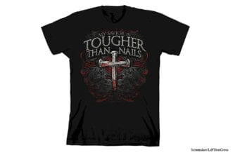 christian t-shirts from youth group my savior is tougher than nails