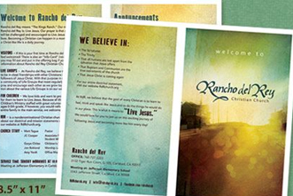 Free Bulletin Template Sunrise City - Church brochure templates