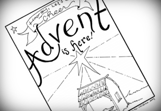 free printable advent coloring book - Advent Coloring Pages