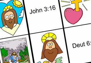 picture regarding Bible Bingo Printable referred to as Totally free Sport Printables: \