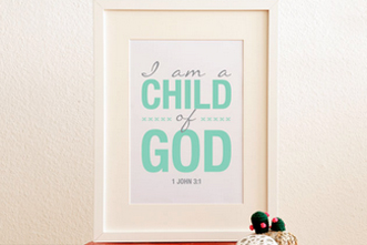 picture about I Am a Child of God Printable identified as Free of charge Printable: \