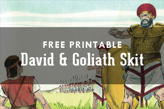 graphic about David and Goliath Printable Story named Cost-free Printable: David and Goliath Lesson Skit