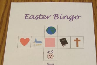 picture regarding Free Printable Easter Cards Religious named Cost-free Printable: Easter Bingo Sport