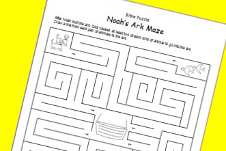 picture relating to Noah's Ark Printable titled No cost Printable: Noahs Ark Maze