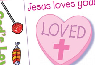 facebook share button - Religious Valentine Cards